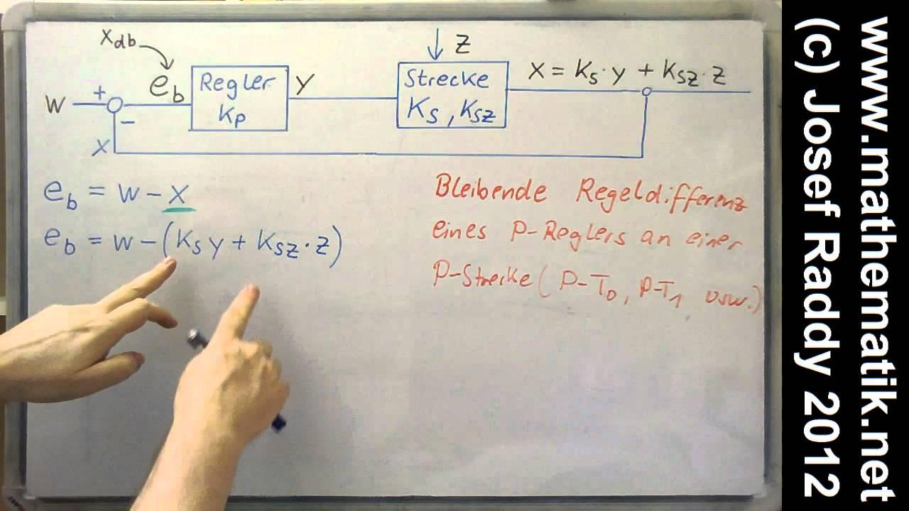 p regler statisch regeldifferenz berechnen formel st rung am ausgang der strecke youtube. Black Bedroom Furniture Sets. Home Design Ideas