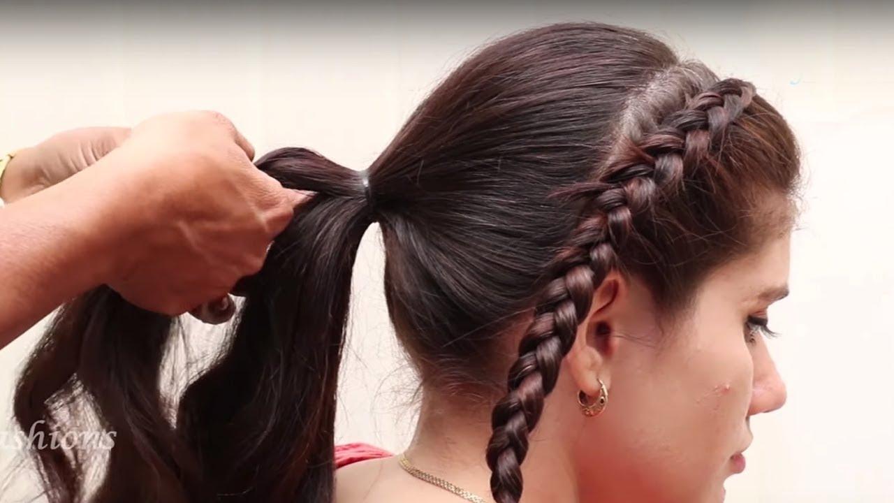 easy & beautiful bridal hair style tutorials 2018 || new hair style for long medium hair