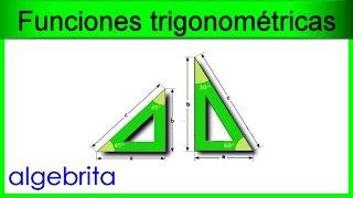 Encontrar los ángulos de un triángulo si conocemos los catetos Funciones trigonométricas 365