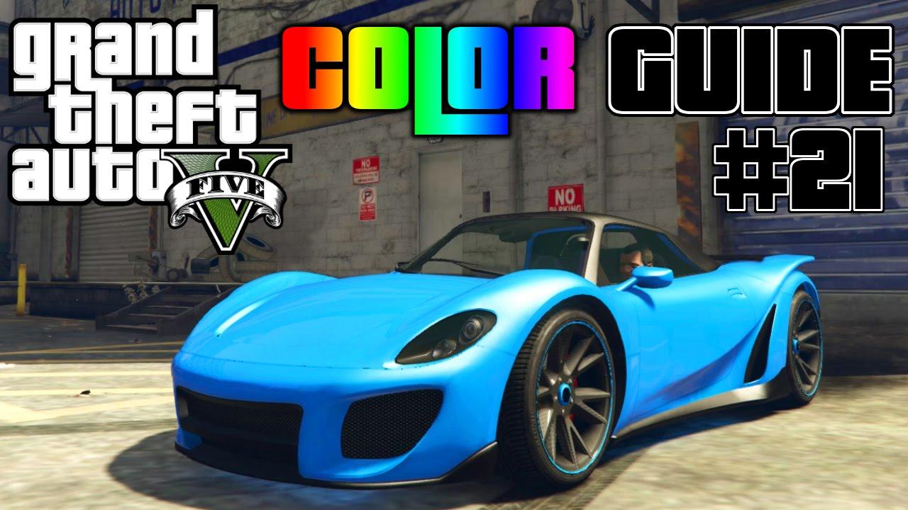 gta v ultimate color guide 21 pfister 811 best color