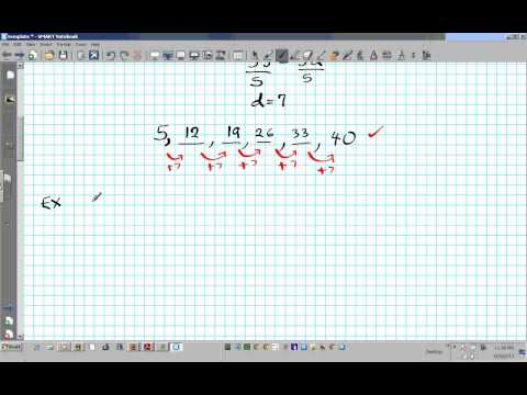 Finding the arithmetic sequence arithmetic means.wmv