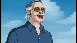 Стэн ли встречает человека паука. Stan Lee meets spider-man