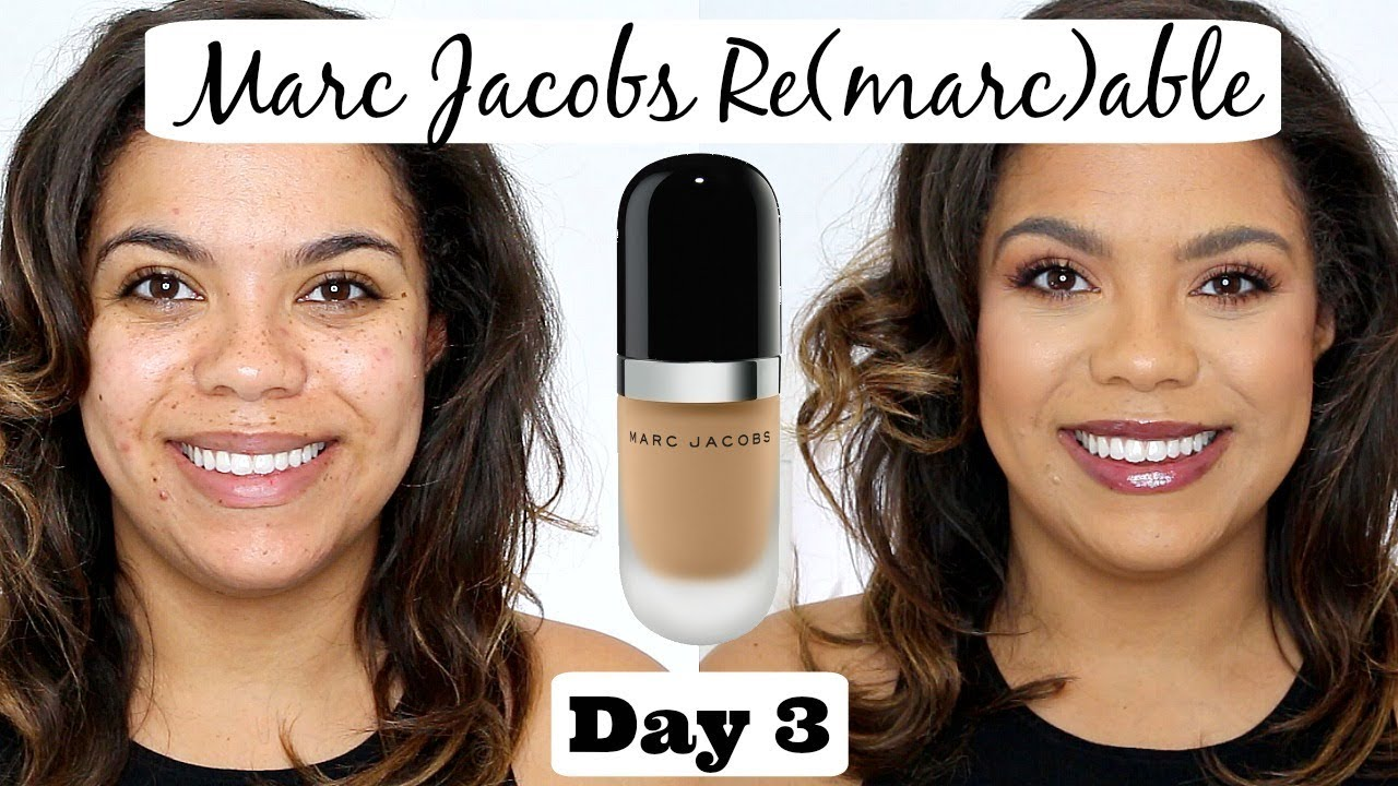 Marc Jacobs Re Marc Able Foundation Review Oily Skin Scarring 12