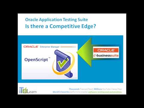 Oracle Application Testing Suite. What is OATS and Oracle Testing Training Tutorials overview
