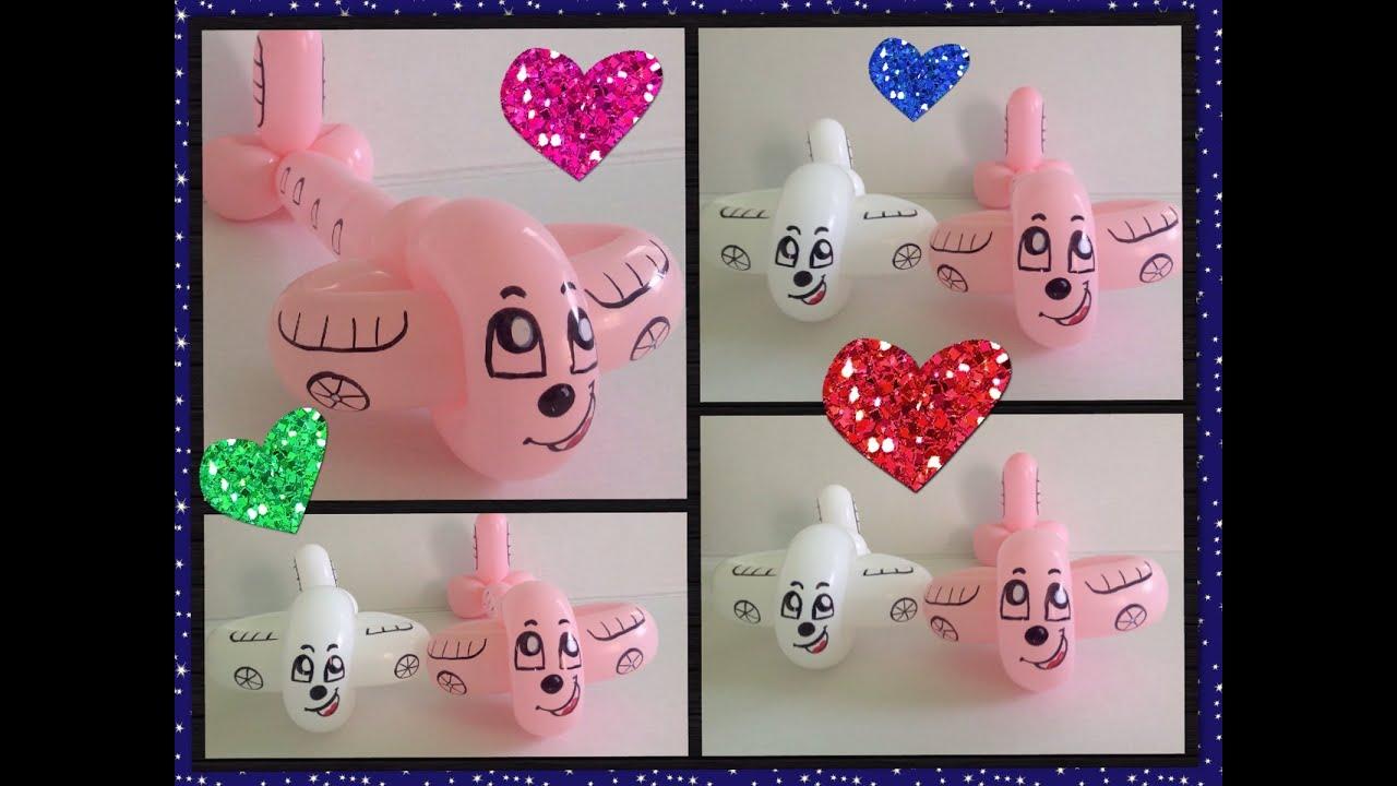 Como hacer un avion con globos airplane balloon youtube - Como hacer figuras con globos ...