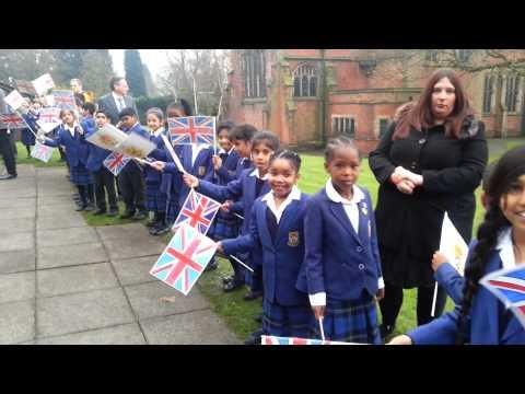 Royal visit at the royal school Wolverhampton