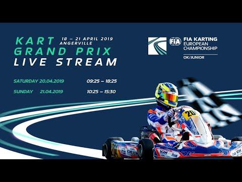 FIA Karting European Championship 2019 OK / Junior Round 1 Angerville Satruday
