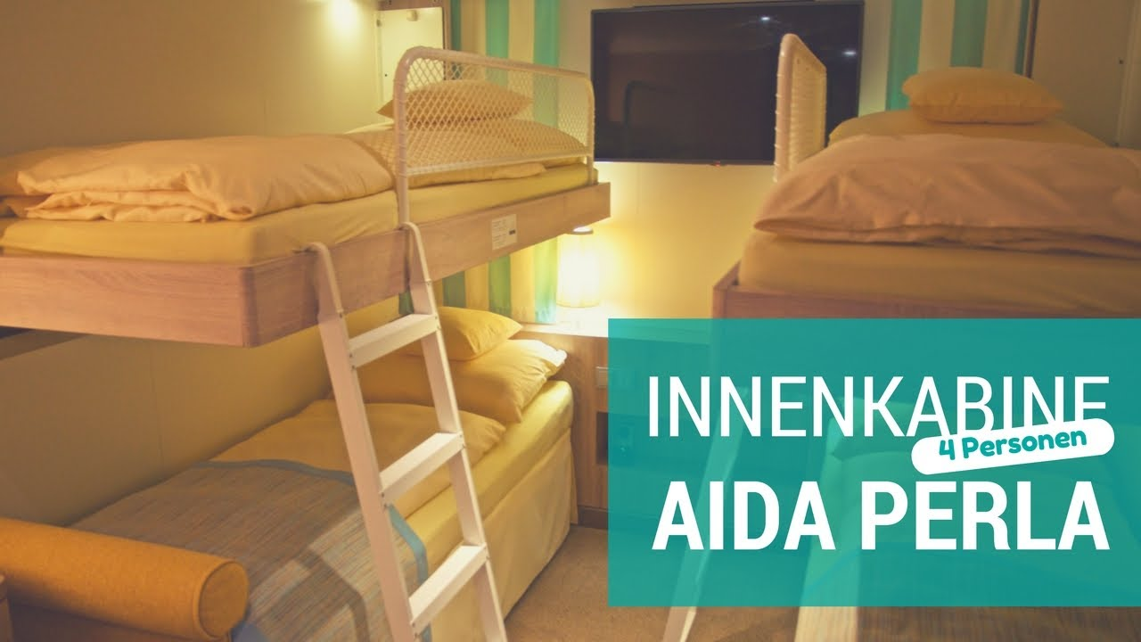 aidaperla innenkabine f r 4 personen youtube. Black Bedroom Furniture Sets. Home Design Ideas