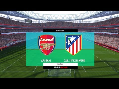 Pes  Arsenal Vs Atletico Madrid Full Match Gameplay