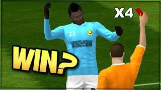 CAN YOU WIN WITH 4 RED CARDS?? // 7 Player Dream League Soccer 2019 challenge