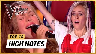 INSANELY HIGH NOTES in 10 Years of The Voice Kids
