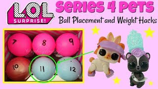 LOL Surprise Series 4 Pets Ball Placement and Weight Hacks Hop Hop Miss Punk Kids LOL Surprise Toys
