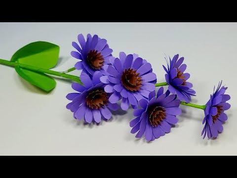 Paper Flower Making: Easy Making Paper Flower At Home | Handcraft Idea | Jarine's Crafty Creation