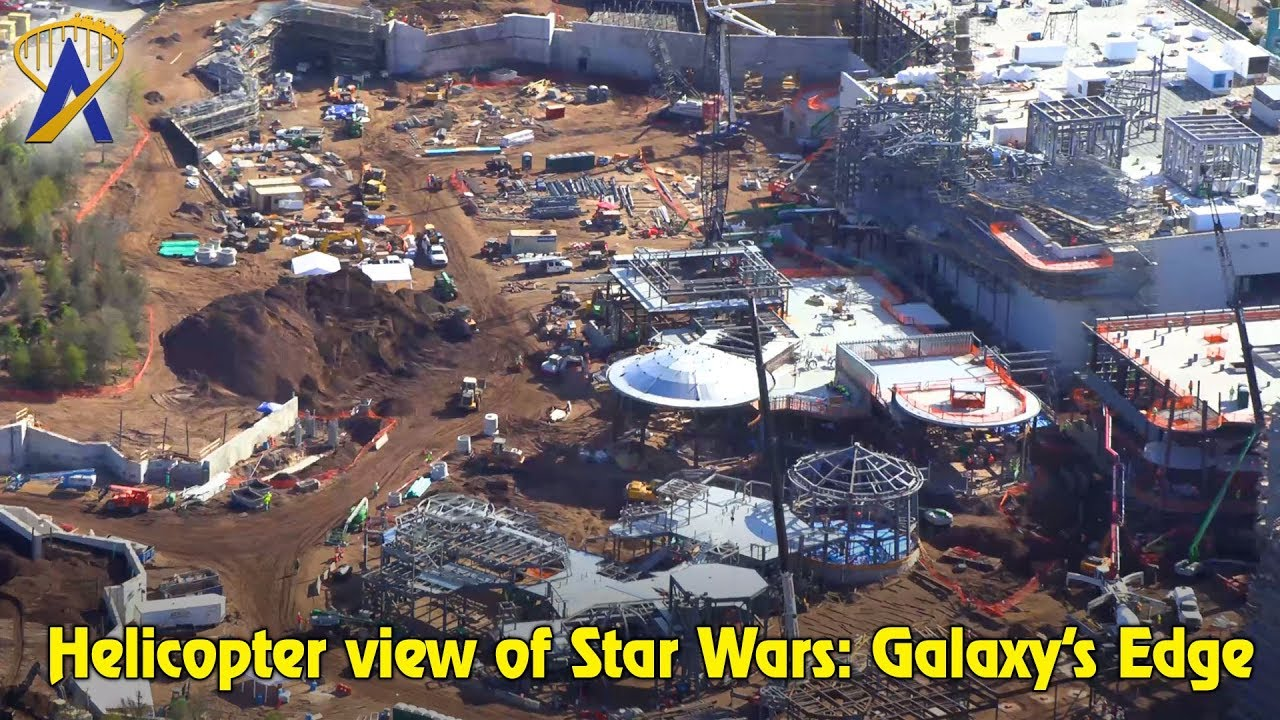 Flyover The Star Wars Galaxy S Edge Disney World Construction Site