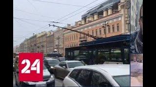 Смотреть видео Циклон больше суток засыпает снегом Санкт-Петербург - Россия 24 онлайн