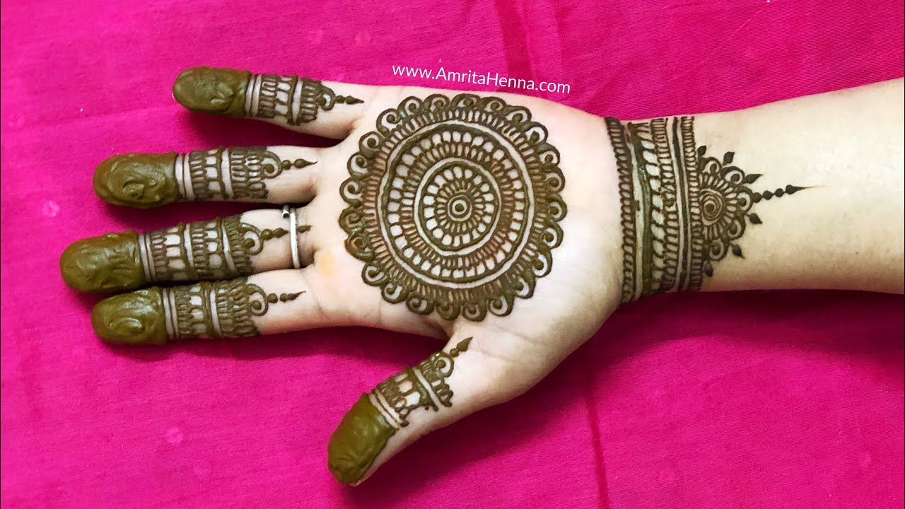 EASY MANDALA MEHNDI DESIGN FOR PALMS