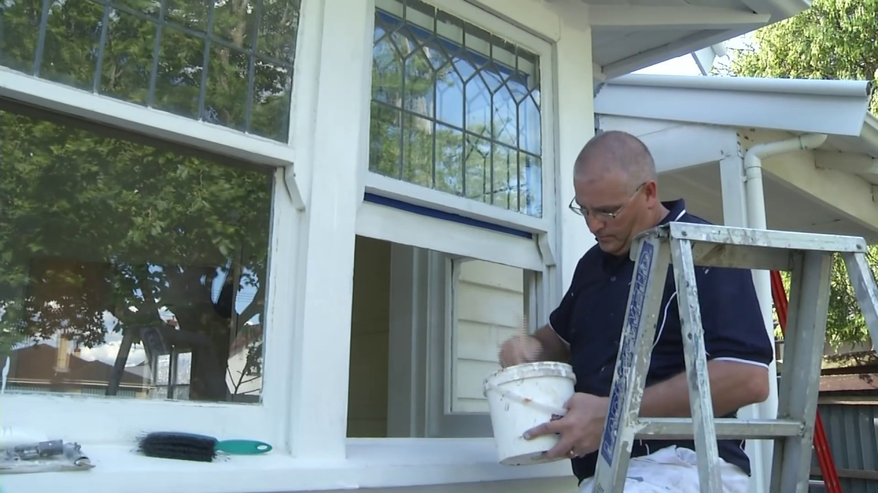 How to paint exterior trims windows youtube for How to paint wood windows interior