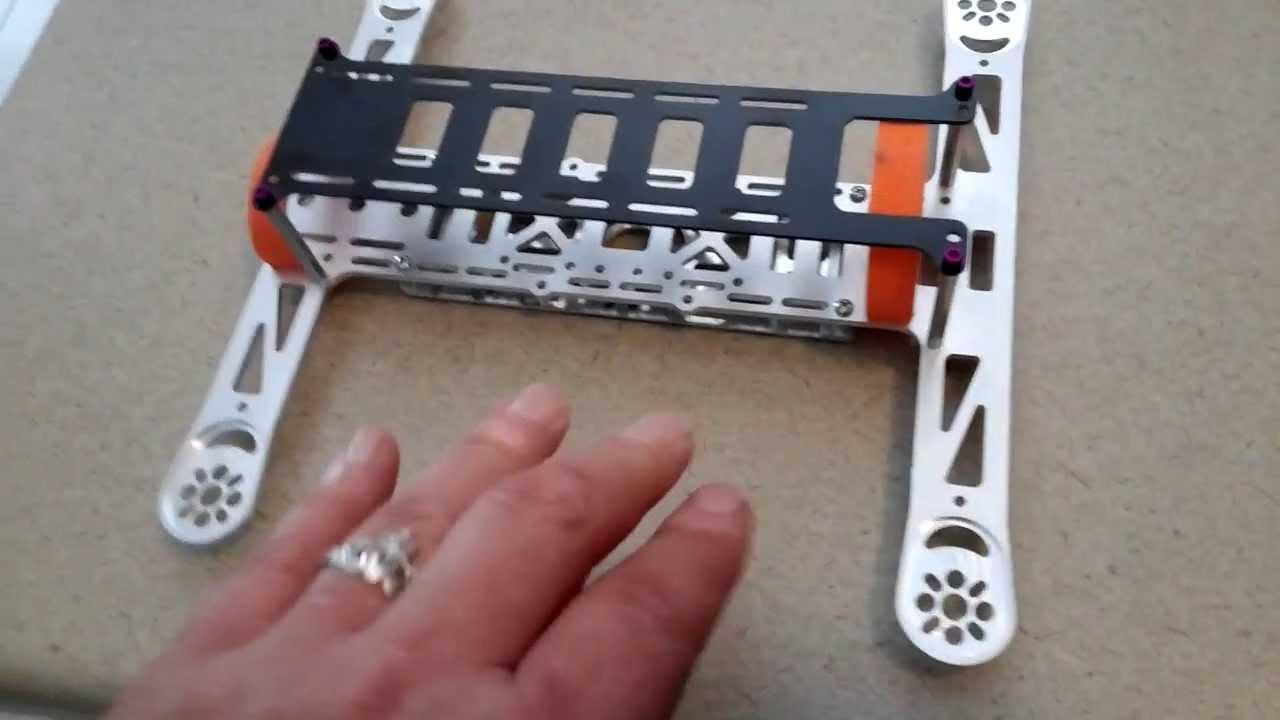 Metal H-ead MINI FPV quadcopter frame - YouTube