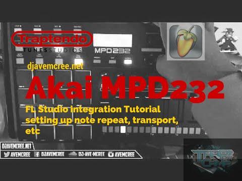 Akai MPD232 in FL Studio tutorial(transport, note repeat, etc.)