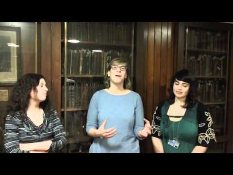 Librarians at Eisenhower Library Special Collections (Johns Hopkins University)