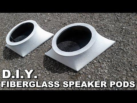 DIY DIAMOND FIBERGLASS SPEAKER PODS - SIMPLE EASY BUILD