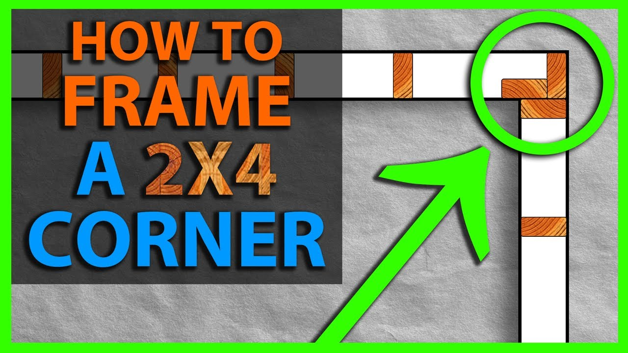 How To Frame A 2x4 Wall Corner Youtube