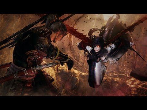 Nioh (PS4) - Hino-enma Boss Fight Walkthrough Third Boss