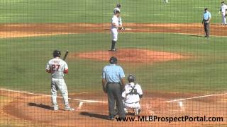 Angels OF Mike Trout vs. Padres LHP Nick Schmidt - Arizona Fall League 2011