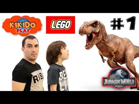 🦎LEGO JURASSIC WORLD #1 Прохождение ЛЕГО ИГРЫ Отправляемся на остров Динозавров Кикидо