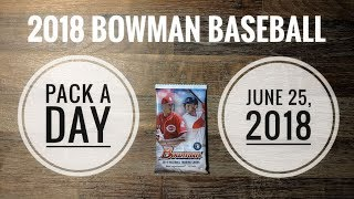 June 25, 2018 - Opening a pack of 2018 Bowman Baseball cards