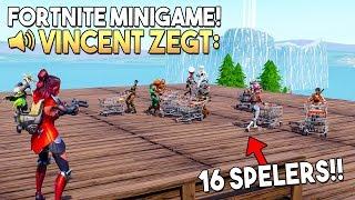 VINCENT ZEGT 5.0 *MET 16 SPELERS* - Fortnite Creative (Nederlands)