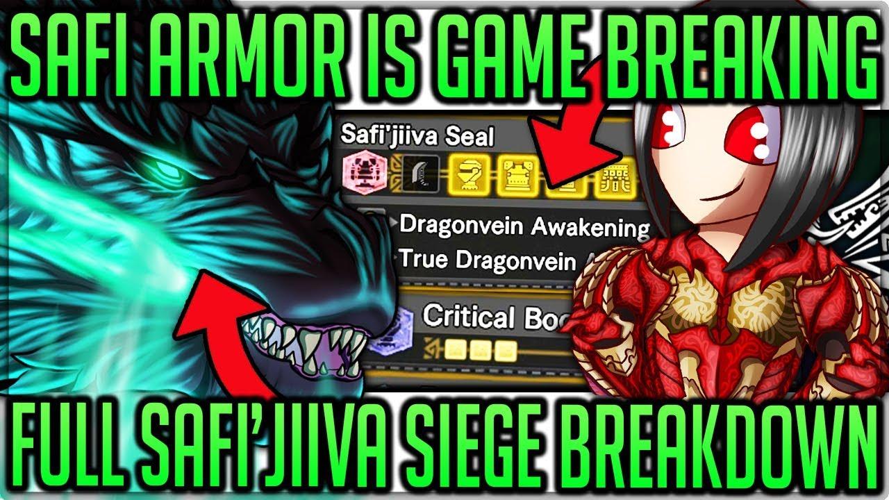 Dragonvein Awakening = Broken - Safi'jiiva Armor + Siege Breakdown  - Monster Hunter World Iceborne! thumbnail