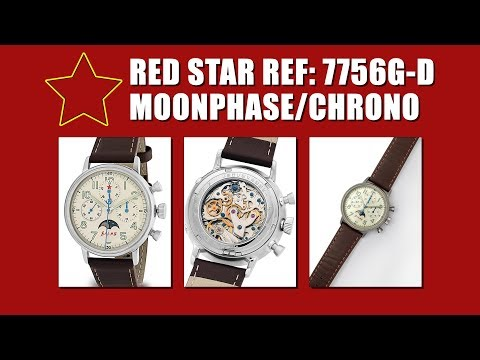 Red Star Mechanical Chronograph with Moonphase Ref: 7756G-D