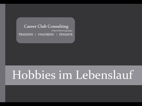 Hobbies im Lebenslauf