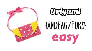 Easy Origami Handbag / Purse Tutorial ♥︎