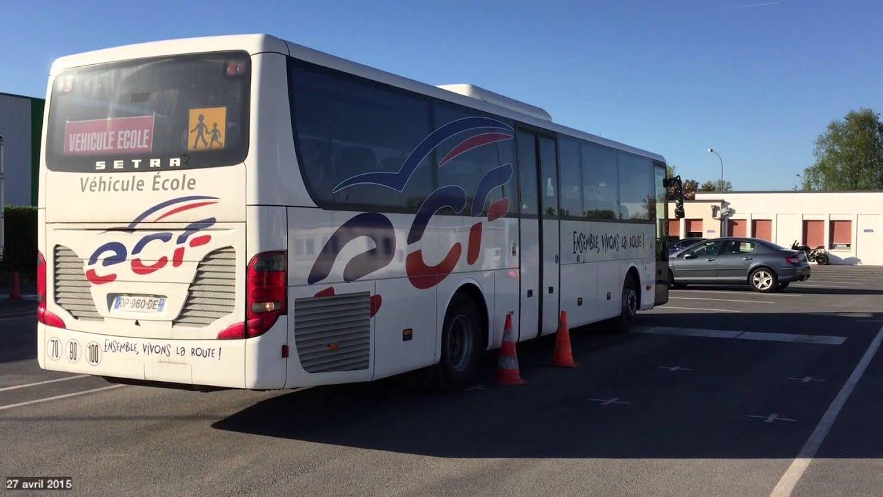 Test De Conduite >> Ma première conduite en autocar formation ECF - YouTube