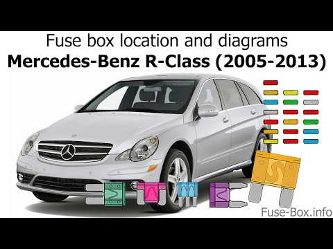 fuse box location and diagrams: mercedes-benz r-class (2005-2013) - youtube
