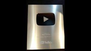 СЕРЕБРЯНАЯ  КНОПКА ЗА 100.000 ПОДПИСЧИКОВ от YouTube - ЯНА ГЮРЭР!!!