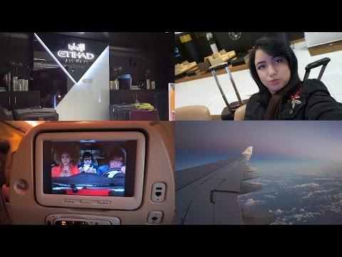 Flight Vlog - From Abu Dhabi to Casablanca with Etihad Airways   رحلتي من ابو ظبي و مناظر رائعة 🛬