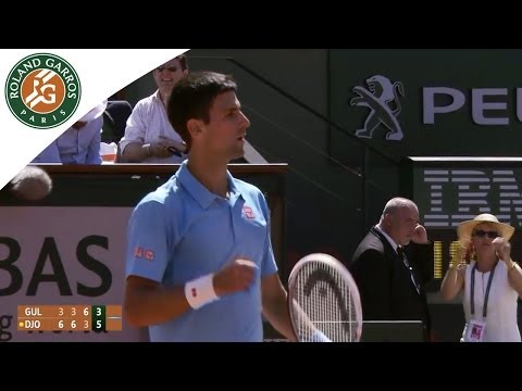 Novak Djokovic V Ernests Gulbis Highlights - Men's Semi-Final 2014 - Roland-Garros