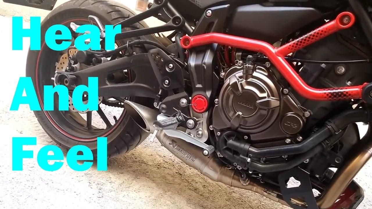 2017 Yamaha MT 07 Akrapovic exhaust