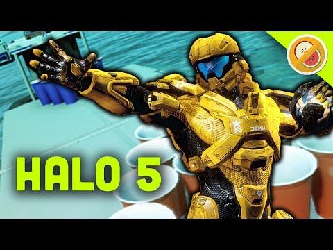 BEER PONG SHOWDOWN! | Halo 5 Custom Game Shenanigans