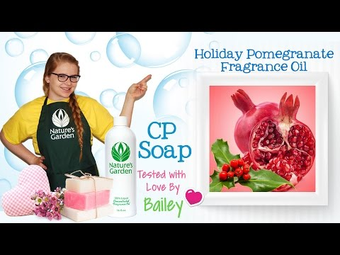 Soap Testing Holiday Pomegranate Fragrance Oil- Natures Garden