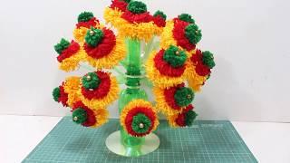 Botal ka guldasta kaise banaye | Plastic bottle flower vase design | DBB