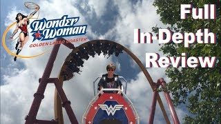Wonder Woman: Golden Lasso Coaster Full In-Depth Review | Six Flags Fiesta Texas
