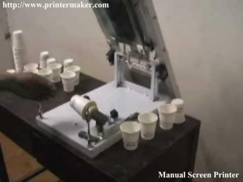 Manual Cylindrical Screen Printer Youtube