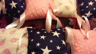 видео Бортики в детскую кроватку своими руками. Схемы, выбор материалов, пошив