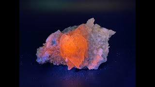 Fluorescent Calcite Mineral Specimen, Rocks and Crystals from Tonglushan Mine, China