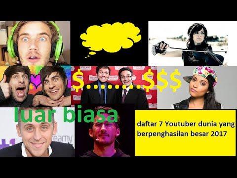 Youtuber dunia berpenghasilan wow.