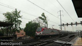 nj transit amtrak trains drizzling afternoon at n elizabeth nj rr
